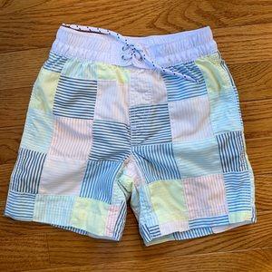 Baby Gap boys madras swim trunks, size 3T